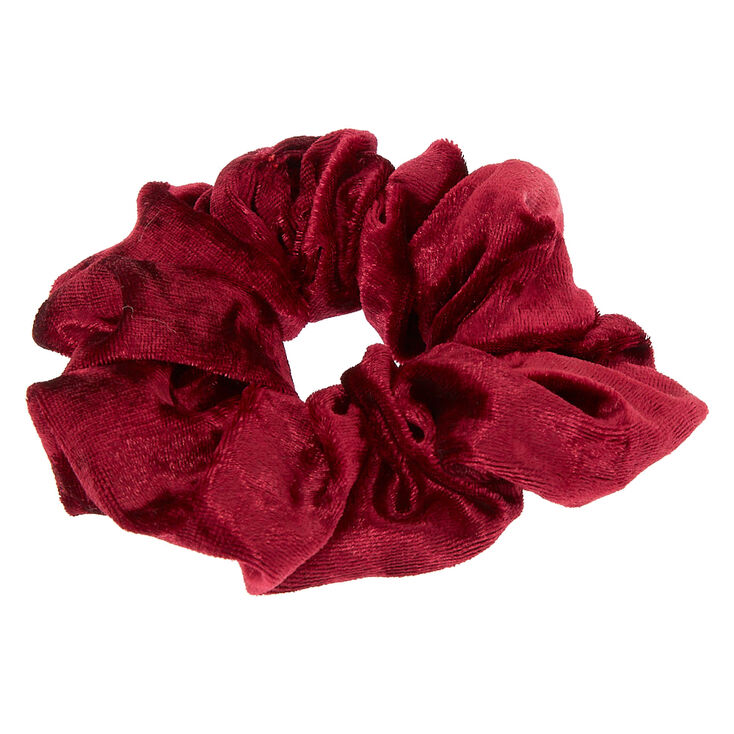 Medium Velvet Hair Scrunchie - Burgundy,