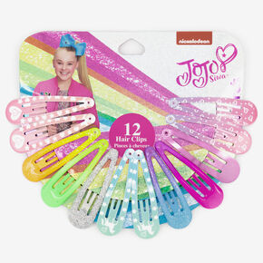 Barrettes clic clac tie-dye arc-en-ciel JoJo Siwa™ - Lot de 12,