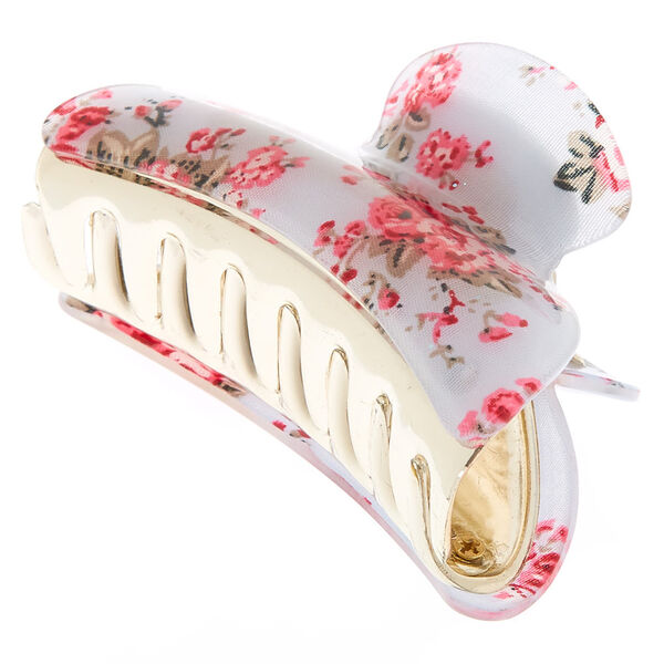 Claire's - romantic floral hair claw - 1