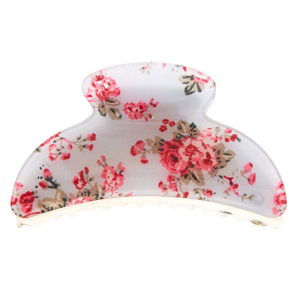 Claire's - romantic floral hair claw - 2