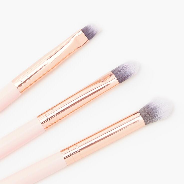 Rose Gold Eyeshadow Brushes - Pink, 3 Pack,