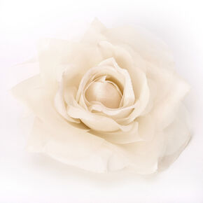 Chiffon Rose Hair Clip & Pin - Cream,