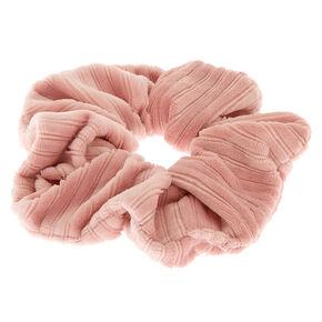 Medium Ribbed Velvet Hair Scrunchie - Pink,