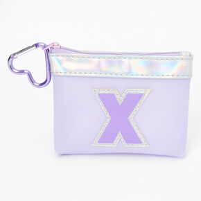Purple Initial Coin Purse - X,