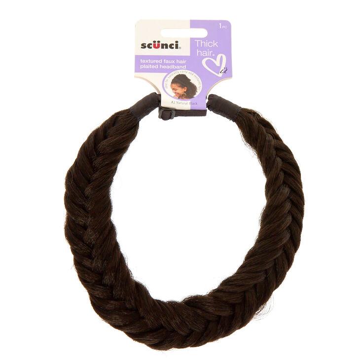 Faux Black Plait Braid Faux Hair Headband,
