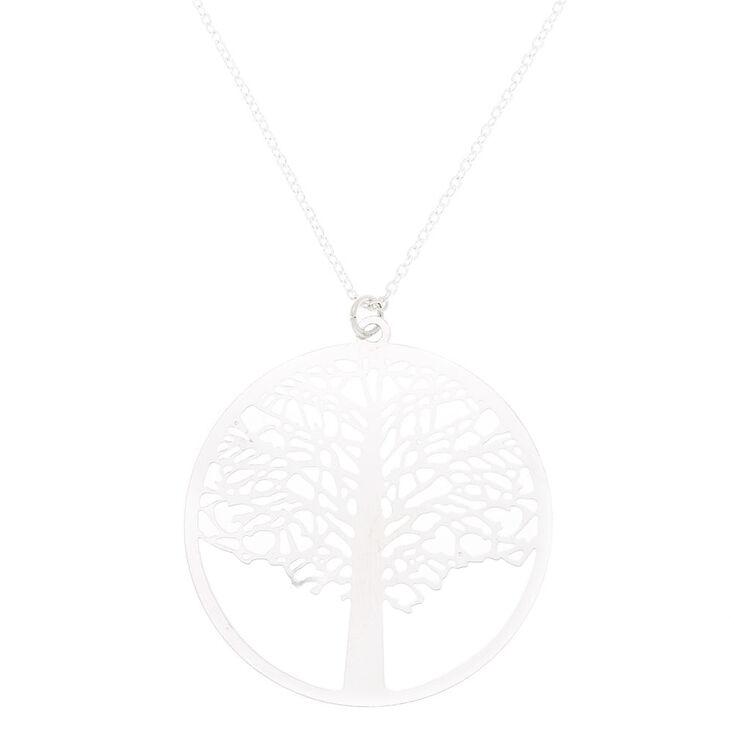Silver Tree Pendant Necklace,