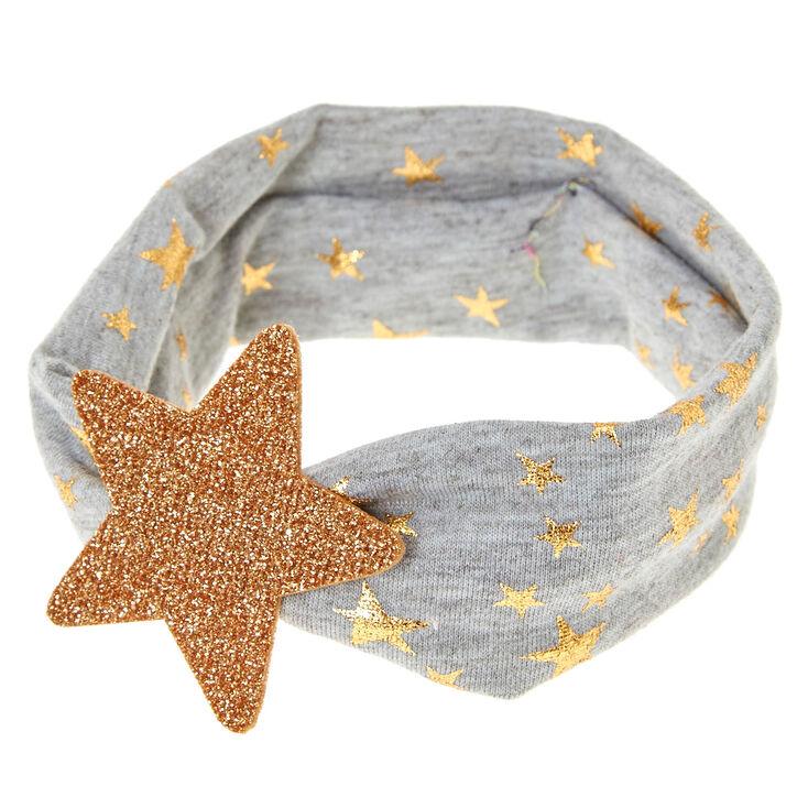 Claire's Club Stars Headwrap - Grey,