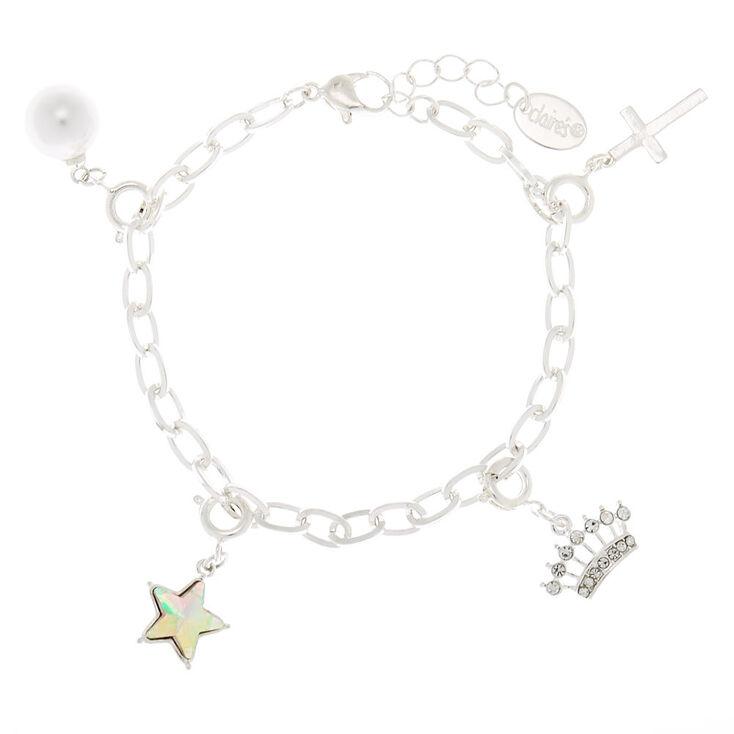 Silver Charm Chain Bracelet,