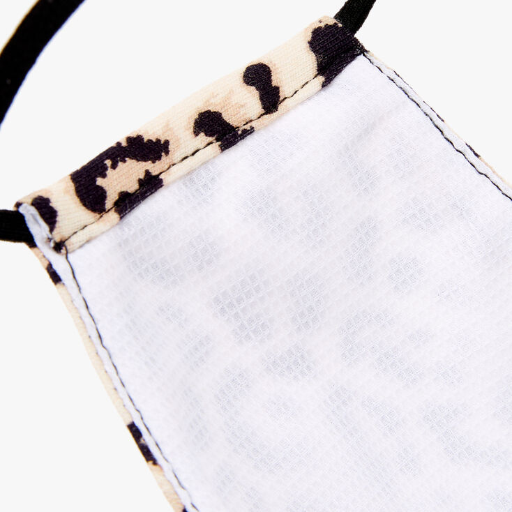 Cotton Cream Leopard Print Face Mask - Adult,