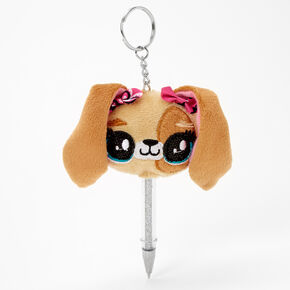 Puppy Mini Keychain Pen - Brown,