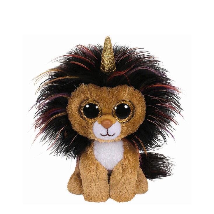 Ty Beanie Boo Small Ramsey the Unicorn Lion Soft Toy  cff666622d01