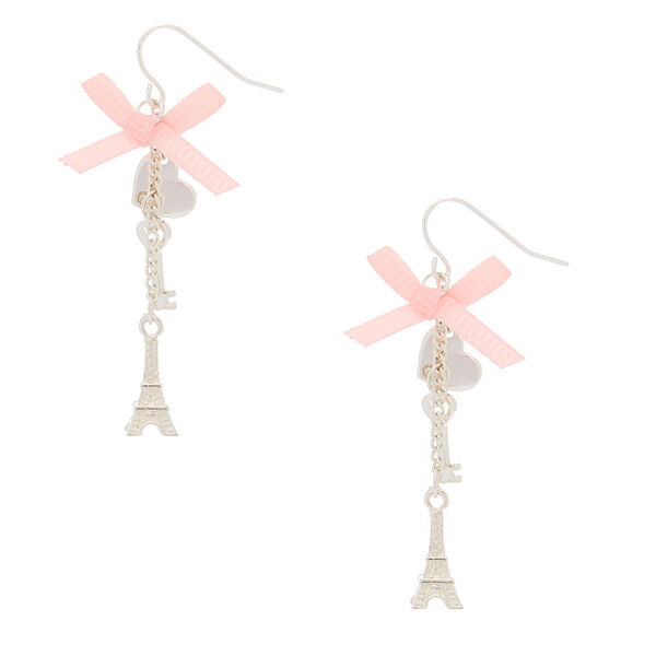 "Claire's - 2"" romantic eiffel tower drop earrings - 1"