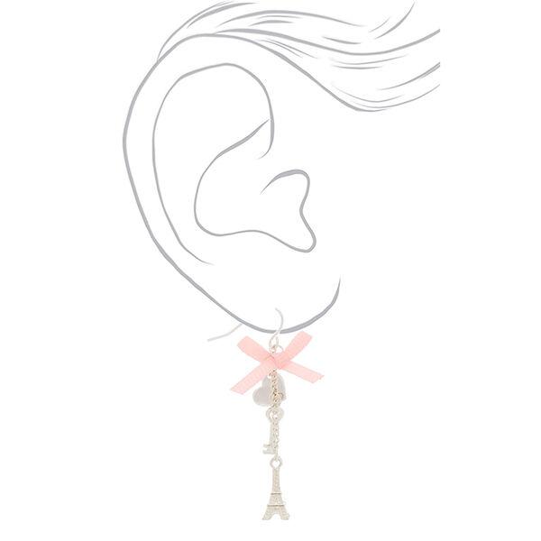 "Claire's - 2"" romantic eiffel tower drop earrings - 2"