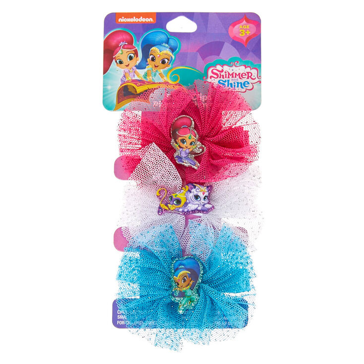 shimmer shine tulle bow hair clips claire s us