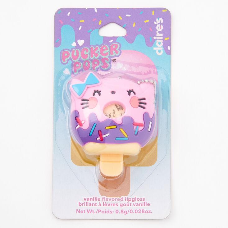 Pucker Pops Cat Donut Lip Gloss - Vanilla,