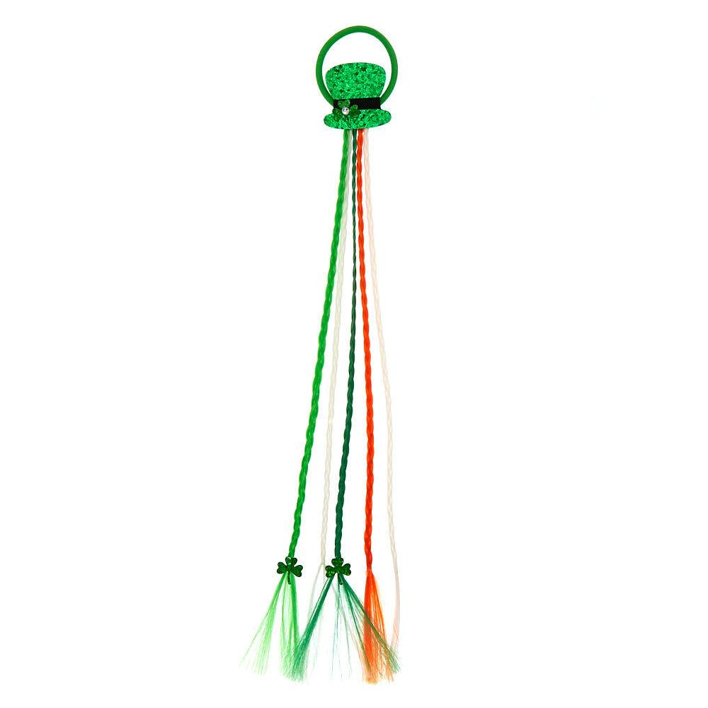Green St Patrick/'s Day Leprechaun Hat Orange Braids Headband Irish Costume Acce