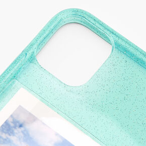 Mint Glitter Instax Mini Pocket Protective Phone Case - Fits iPhone 11,