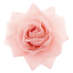 Chiffon Rose Hair Clip & Pin - Blush Pink,