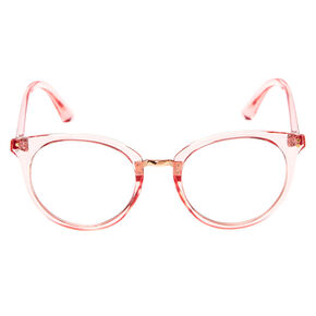 Round Clear Lens Frames - Pink,