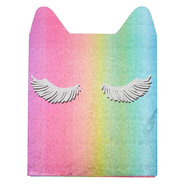 Rainbow Glitter Cat Makeup Book - 48 Pack,