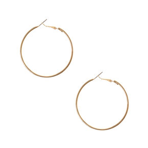 Gold Medium Hoop Earrings,