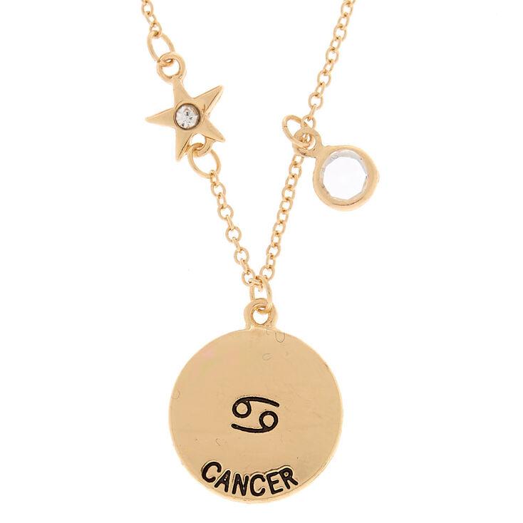 Gold zodiac pendant necklace cancer claires gold zodiac pendant necklace cancer aloadofball Gallery
