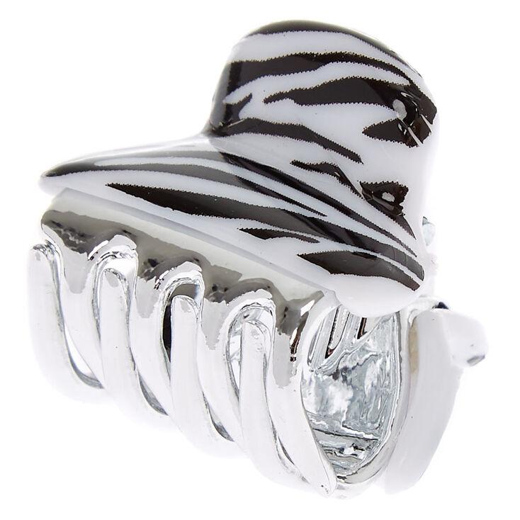 Mini Zebra Hair Claw,