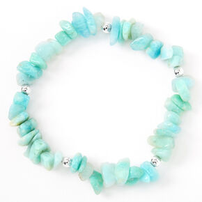 Beaded Puka Shell Stretch Bracelet - Mint,