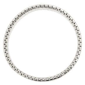 Bracelet élastique à maillons couleur argenté,