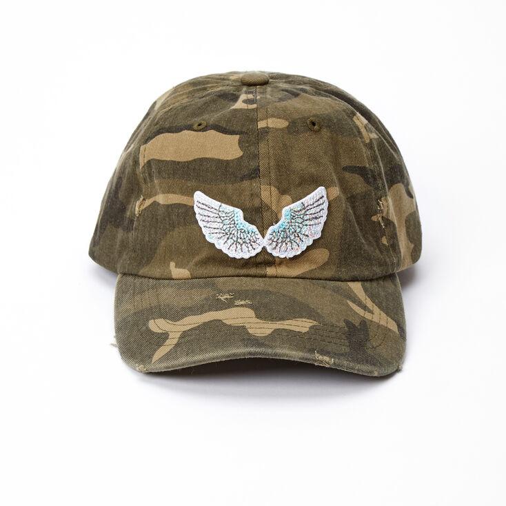 Angel Wing Camo Print Baseball Cap,