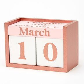 Glitter Block Calendar - Pink,