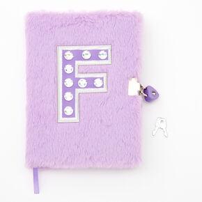 Giant Initial Furry Lock Diary - F,