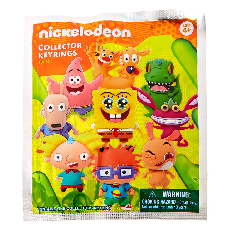 LOT OF 3 NICKELODEON SERIES 1 COLLECTOR KEYRING BLIND BAGS