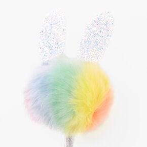 Pastel Bunny Plush Pen - Rainbow,