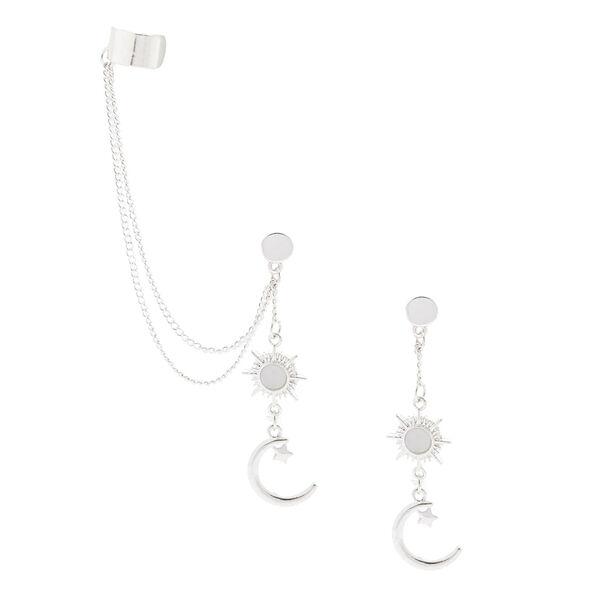 Claire's - celestial ear connector earrings - 1