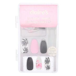 Matte Flamingo Faux Nail Set - 24 Pack