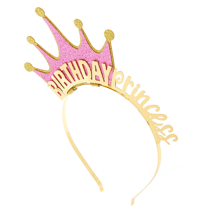 Birthday Princess Crown Headband - Gold,