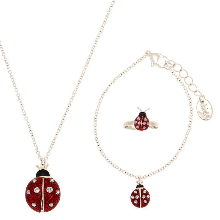 Claire's Club Ladybug Jewelry Set - 3 Pack,