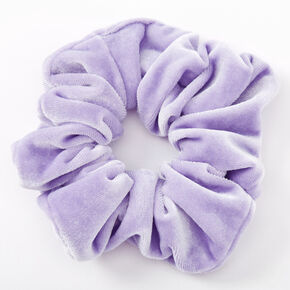 Medium Velvet Hair Scrunchie - Periwinkle,