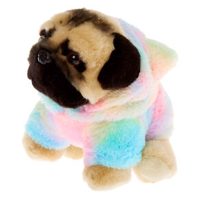 Doug the Pug™ Medium Rainbow Hoodie Plush Toy,