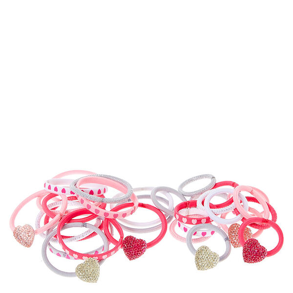 Claire's - club heart hair ties - 2