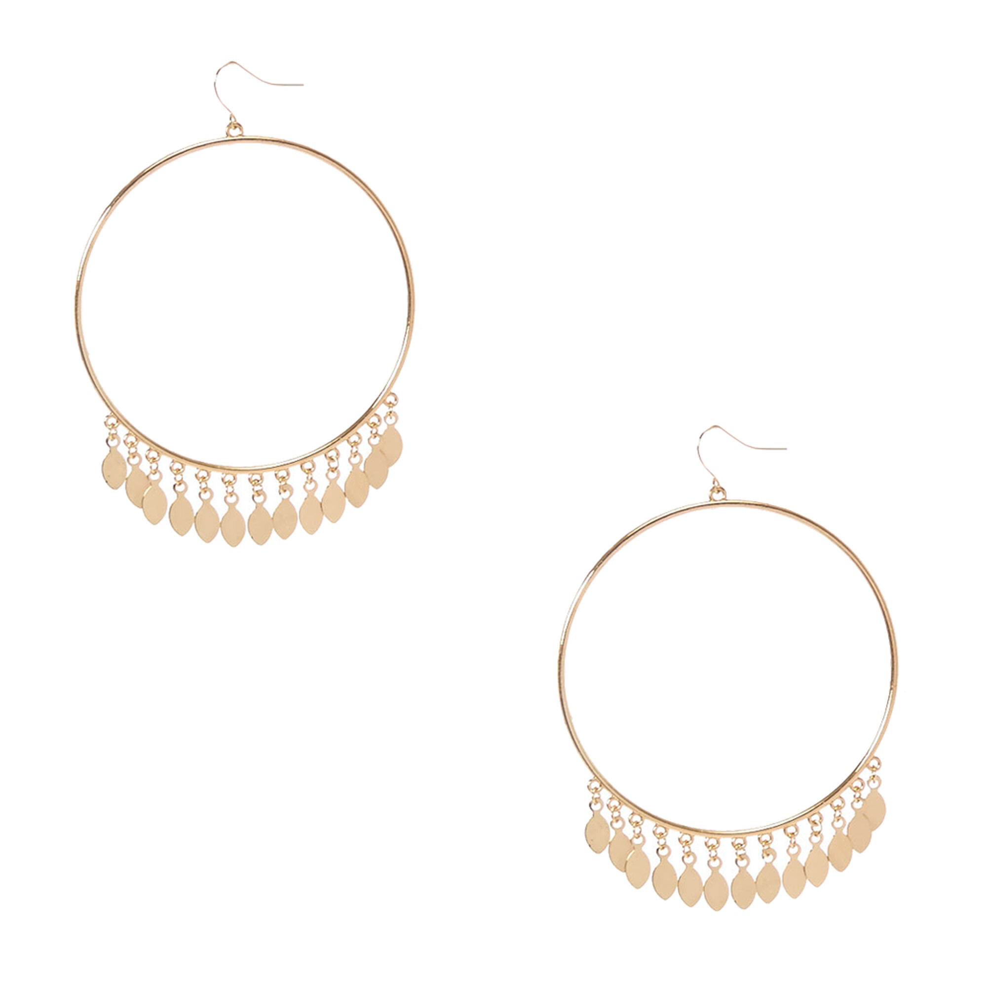 dsc weathered circle gold earrings drop product penny circles studs double circular a