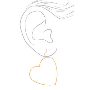 Gold 60MM Heart Hoop Earrings,