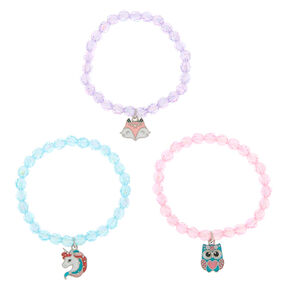 Claire's Club Beaded Stretch Bracelets - 3 Pack,