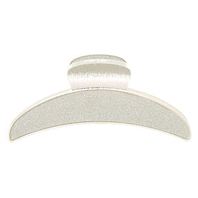 Silver Glitter Skinny Hair Claw,