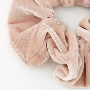 Medium Flat Velvet Hair Scrunchie - Champagne,