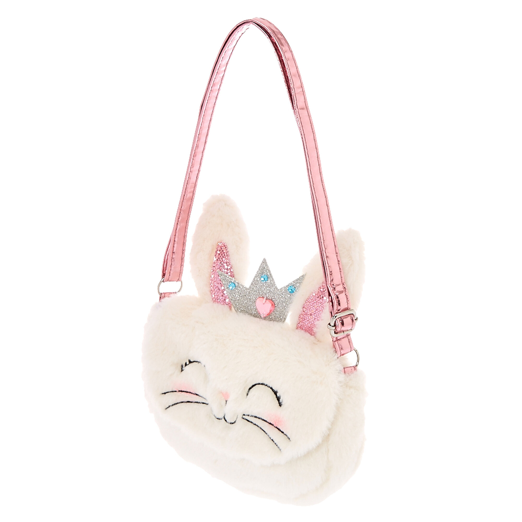 Claire 39 S Club The Bunny Plush Crossbody Bag