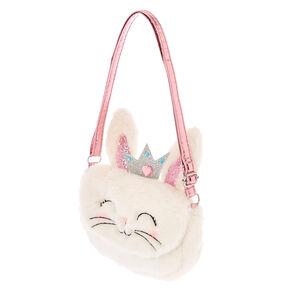 Claire S Club The Bunny Plush Crossbody Bag White