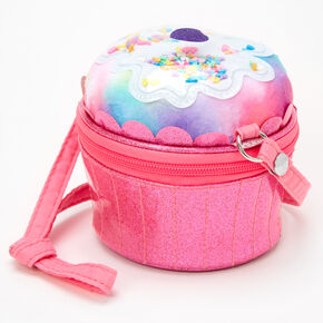 Claire's Club Cupcake Crossbody Bag - Pink,
