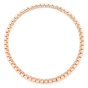 Rose Gold Link Stretch Bracelet,